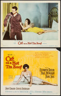 """Movie Posters:Drama, Cat on a Hot Tin Roof (MGM, 1958). Title Lobby Card & Lobby Card (11"""" X 14""""). Drama.. ... (Total: 2 Items)"""