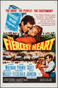 "Movie Posters:Adventure, The Fiercest Heart & Other Lot (20th Century Fox, 1961). OneSheets (2) (27"" X 41""). Adventure.. ... (Total: 2 Items)"