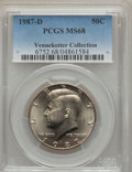 Kennedy Half Dollars, 1987-D 50C MS68 PCGS....