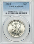 Franklin Half Dollars: , 1950-D 50C MS66 Full Bell Lines PCGS. PCGS Population: (99/0). NGC Census: (10/0). CDN: $1,000 Whsle. Bid for problem-free ...