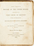 Books:Americana & American History, Charles A. Goodrich. The Child's History of the United StatesDesigned as a First Book of History for Schools. Illustrat...