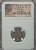 Mexico:Zacatecas, Mexico: Zacatecas. Ferdinand VII 1/2 Real 1821-RG VG10 NGC,...