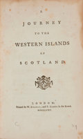 Books:Travels & Voyages, [Samuel Johnson]. A Journey to the Western Islands ofScotland. London, 1775....