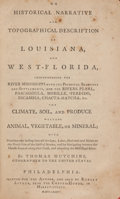 Books:Americana & American History, Thomas Hutchins. An Historical Narrative and TopographicalDescription of Louisiana and West-Florida... Philadel...