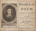 Books:Literature Pre-1900, John Milton. Paradise Lost. A Poem in Twelve Books. TheSecond Edition Revised and Augmented by the same Author....