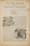 Books:Periodicals, [Literary Journals]. The New Mirror (Extra), No. 5. [NewYork: New Mirror Library, 1844]. ...