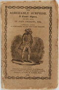 Books:Music & Sheet Music, John O'Keefe. The Agreeable Surprise. A Comic Opera in Two Acts. New York: Charles Wiley, 1824. ...