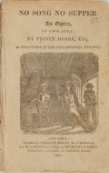 Books:Music & Sheet Music, Prince Hoare. No Song No Supper: An Opera, In Two Acts. New York: Charles Wiley, 1824. ...