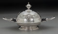 Silver Holloware, American:Coin Silver, An Albert Coles Medallion Pattern Coin Silver Butter Dish,New York, New York, circa 1863. Marks: (eagle, AC, fi...