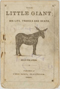 Books:Art & Architecture, [Cartoons]. The Little Giant; His Life, Travels and Death.Chicago: 1860. ...