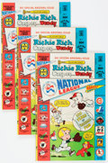 Bronze Age (1970-1979):Cartoon Character, Richie Rich, Casper and Wendy National League #1 File Copies BoxLot(Harvey, 1976) Condition: Average VF/NM....