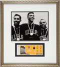 Boxing Collectibles:Autographs, Circa 2000 Muhammad Ali Signed Olympics Boxing Photograph Displaywith Full Ticket....