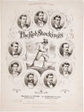 Baseball Collectibles:Others, 1869 Cincinnati Red Stockings Sheet Music....