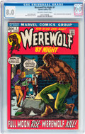 Bronze Age (1970-1979):Horror, Werewolf by Night #1 (Marvel, 1972) CGC VF 8.0 Off-white to whitepages....