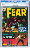 Bronze Age (1970-1979):Horror, Fear #4 (Marvel, 1971) CGC NM 9.4 Off-white to white pages....