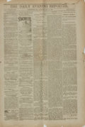 Books:Periodicals, [Newspapers]. The Daily Evening Reporter, Vol. 5, Whole No.1630. Washington, P.A.: [Gow & Christman], 1881....