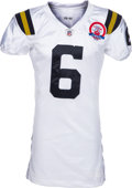 Football Collectibles:Uniforms, 2009 Mark Sanchez Game Worn, Unwashed New York Jets Throwback Rookie Jersey and Pants - Worn 10/25 Vs. Oakland....
