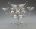 Silver Holloware, British:Holloware, A James Young George III Silver Epergne, London, England, circa1792. Marks: (lion passant), (crowned leopard) r, (duty...