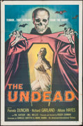 "Movie Posters:Horror, The Undead (American International, 1957). One Sheet (27"" X 41""). Horror.. ..."