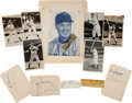 Baseball Collectibles:Others, 1940's-'50's Collection of Signed Cuts, Postcards & SmallMagazine Photographs. ...