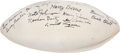 Football Collectibles:Balls, 1947 New York Yankees AAFC Team Signed Football with Rare Bruiser Kinard. ...