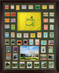 Golf Collectibles:Autographs, 1963-2013 Masters Badge Run with Most Signed by Tournament WinnerDisplay....