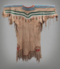 American Indian Art:Beadwork and Quillwork, A Plateau Beaded Hide Dress. c. 1880. ...