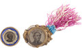 Political:Ferrotypes / Photo Badges (pre-1896), Horatio Seymour: Pair of Ferrotype Badges.... (Total: 2 Items)