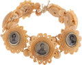 Political:Ferrotypes / Photo Badges (pre-1896), Ulysses S. Grant: Civil War Ferrotype Bracelet....