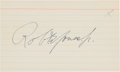 Autographs:Post Cards, 1960's Bobby Jones Signed Index Card. ...