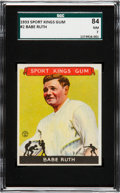 Baseball Cards:Singles (1930-1939), 1933 Sport Kings Babe Ruth #2 SGC 84 NM 7. ...