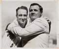 Baseball Collectibles:Photos, 1939 Babe Ruth & Lou Gehrig Embrace During Lou Gehrig Day TypeII Photograph. ...