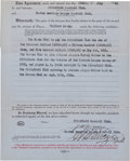 Baseball Collectibles:Others, 1920 Harry Frazee Signed Contract - The Man Who Sold Babe Ruth to the Yankees. ...