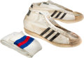 Basketball Collectibles:Uniforms, 1970's Artis Gilmore Game Worn Kentucky Colonels Shoes....