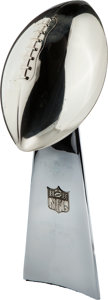 Football Collectibles:Others, 1994 Super Bowl XXVIII Vince Lombardi Trophy - Once Displayed at League Office....