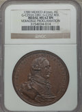 Mexico, Mexico: Charles IV Veracruz Proclamation Medal 1789 MS62 BrownNGC,...