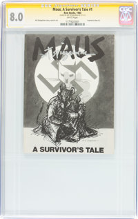Maus, A Survivor's Tale #1 Signature Series (Raw Books, 1980) CGC VF 8.0 White pages
