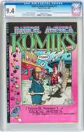 Silver Age (1956-1969):Alternative/Underground, Radical America Komiks #1 (Rip Off Press, 1969) CGC NM 9.4 Off-white to white pages....