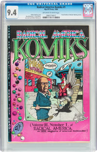 Radical America Komiks #1 (Rip Off Press, 1969) CGC NM 9.4 Off-white to white pages