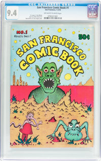 San Francisco Comic Book #1 (San Francisco Comic Book Co., 1970) CGC NM 9.4 Off-white to white pages