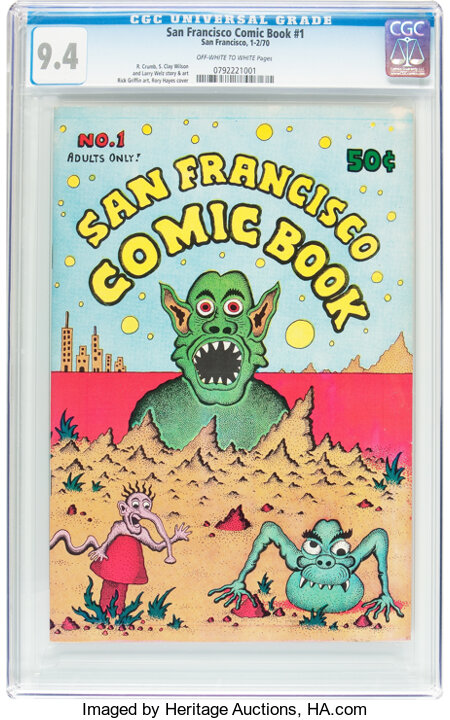 San Francisco Comic Book #1 (San Francisco Comic Book Co., 1970) CGC NM 9.4 Off-white to white pages....