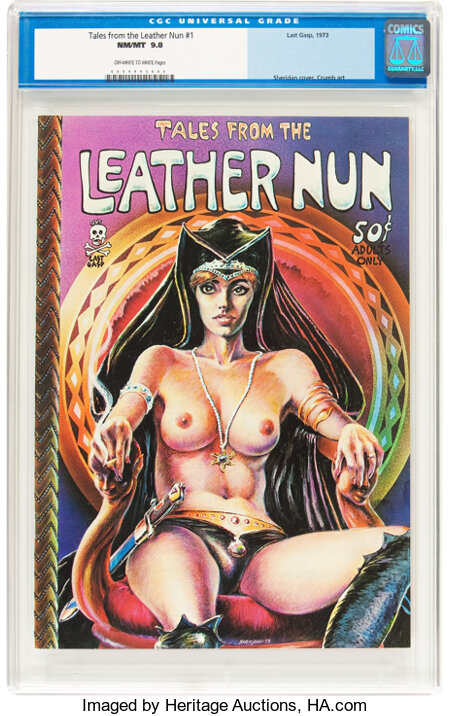 Tales From the Leather Nun #1 (Last Gasp, 1973) CGC NM/MT 9.8 Off-white to white pages....