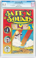 Bronze Age (1970-1979):Alternative/Underground, Safe 'N Sound #nn (Come Get It Graphics, 1973) CGC VF+ 8.5 White pages....
