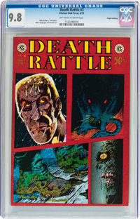 Death Rattle #3 Haight-Ashbury pedigree (Kitchen Sink, 1973) CGC NM/MT 9.8 Off-white to white pages