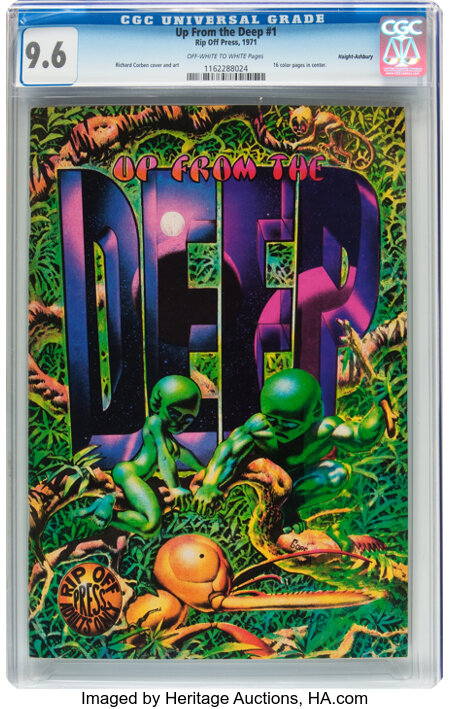 Up From the Deep #1 Haight-Ashbury pedigree (Rip Off Press, 1971) CGC NM+ 9.6 Off-white to white pages....