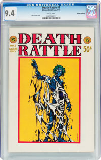 Death Rattle #2 Haight-Ashbury pedigree (Kitchen Sink, 1973) CGC NM 9.4 White pages