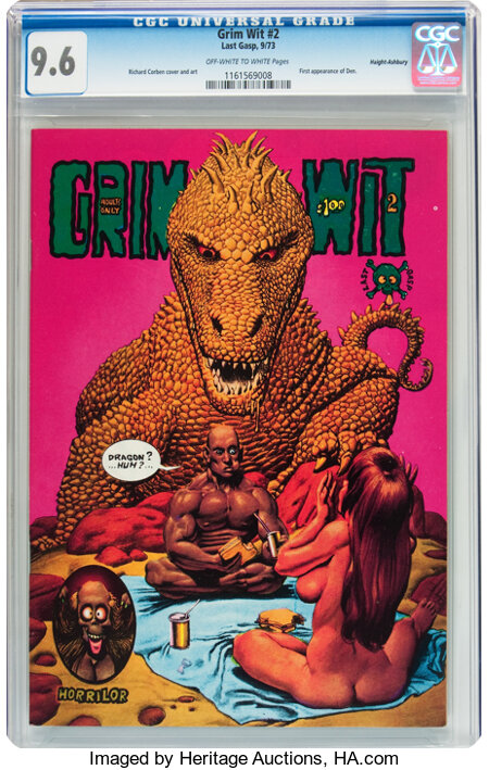 Grim Wit #2 Haight-Ashbury pedigree (Last Gasp, 1973) CGC NM+ 9.6 Off-white to white pages....