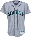 Baseball Collectibles:Uniforms, 1998 Ken Griffey, Jr. Game Worn Seattle Mariners Jersey with Griffey Letter....