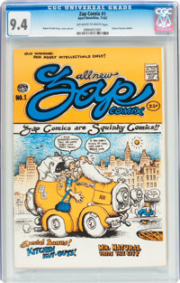 Zap Comix #1 Plymell Edition 1st Printing (Apex Novelties, 1968) CGC NM 9.4 Off-white to white pages
