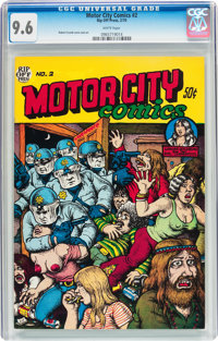 Motor City Comics #2 First Printing (Rip Off Press, 1970) CGC NM+ 9.6 White pages